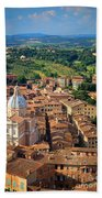 Siena From Above Beach Towel