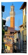 Siena Streets Beach Towel by Inge Johnsson
