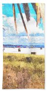Siesta Key In Fall Beach Towel