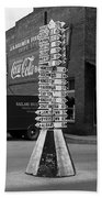 Sign Post In Crossville Tennessee 1939 Beach Towel