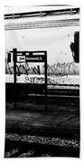 Signs Monochrome Beach Towel
