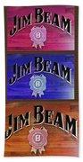 Signs Of Jim Beam Beach Towel