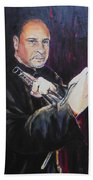 Pencak Silat - Pelatih Johnny Dutrieux Beach Towel