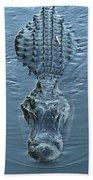 Submerged Alligator Approach Beach Towel