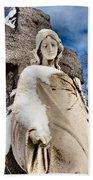 Silent Winter Angel Beach Towel