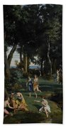 Silenus Beach Towel by Jean Baptiste Camille Corot