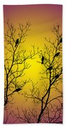 Silhouette Birds Beach Towel