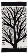 Silhouette Maple Beach Towel by Barbara St Jean