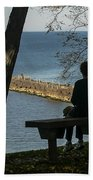 Silhouette On The Hill Beach Towel