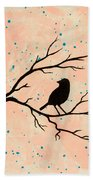 Silhouette Pink Beach Towel