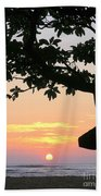 Silhouette Sunrise Beach Towel