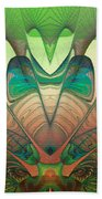 Silk Fan - Abstract  Beach Towel