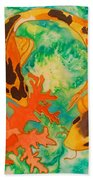 Silk Koi Beach Towel