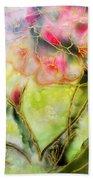 Silky Almond Flower Beach Towel