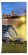 Silky Niagara Falls Panoramic Sunset Beach Towel