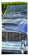 Silver 1963 Austin Healey Roadster 3000 Beach Towel
