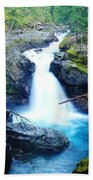Silver Falls  Beach Towel