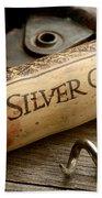 Silver On Silver Beach Towel