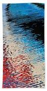 Silver Spirit Abstract Beach Towel
