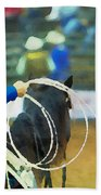 Silver Spurs Rodeo Outrider Beach Towel
