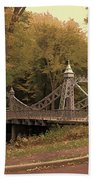 Silver Suspension Bridge Beach Towel