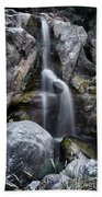 Silver Waterfall Beach Towel by Carlos Caetano