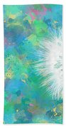 Silverpuff Dandelion Wish Beach Towel