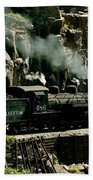 Silverton Steam Locomotive  Beach Towel