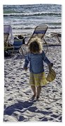 Simpler Times 2 - Miami Beach - Florida Beach Towel by Madeline Ellis