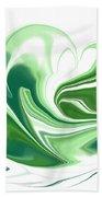Simplicity In Green Beach Towel
