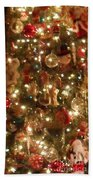 Simply Santa Beach Towel by Laurie Lundquist
