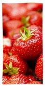 Simply Strawberries Beach Towel