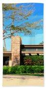 Sinatra Home Palm Springs Beach Towel by William Dey