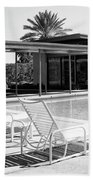 Sinatra Pool Bw Palm Springs Beach Towel