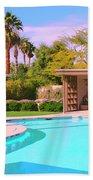 Sinatra Pool Cabana Palm Springs Beach Towel