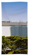 Singapore Marina Bay Sands And Skypark Beach Towel