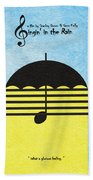 Singin' In The Rain Beach Towel