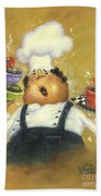Singing Chef In Gold Beach Towel