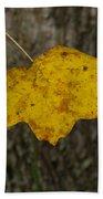 Single Poplar Leaf Beach Towel