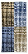 Singles In Gold And Blue Beach Towel