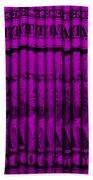 Singles In Purple Beach Towel
