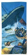 Sinking Of The Titanic Beach Towel