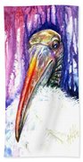 Sir Archibald Woodward Woodstork IIi Beach Towel