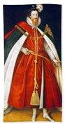Sir Robert Devereux (1566-1601) Beach Towel