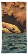 Siren Rocks II Beach Towel