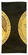 Sisseton Wahpeton Oyate Sioux Tribe Code Talkers Bronze Medal Art Beach Towel