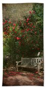 Sit With Me Here Beach Towel by Laurie Search