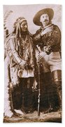 Sitting Bull And Buffalo Bill Beach Towel