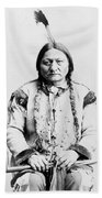 Sitting Bull Beach Towel by War Is Hell Store
