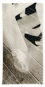 Sitting Together-duotone Beach Towel
